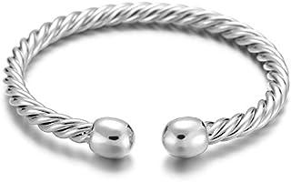 高級デザイン男性女性カップル磁気療法ブレスレットヘルスケア織りブレスレットファインジュエリー最高の贈り物 - シルバー
