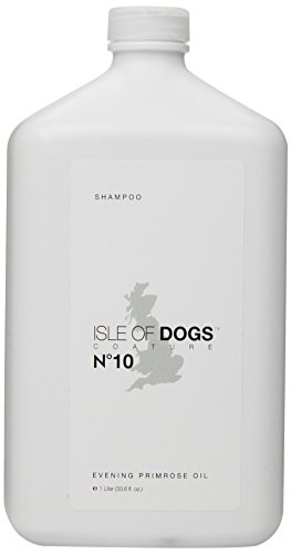 Isle of Dogs Coature No. 10 Evening Primrose Oil Dog Shampoo for Dry and Sensitive Skin, 1-Liter