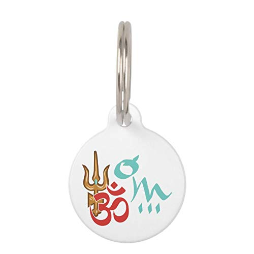 SLobyy Stainless Steel Pet ID Tags, Dog Tags, Cat Tags, Shiva Trishula OM Pet ID Tag for Dogs and Cats