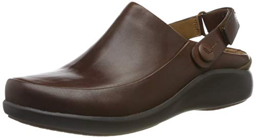Clarks Un.Loop2 Strap, Mocasines para Mujer, Marrón (Dark Tan Lea), 40 EU