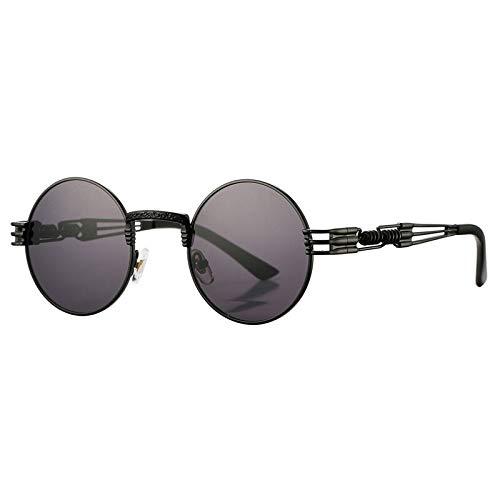 Gafas de Sol Sunglasses Gafas De Sol Rojas Vintage Punk Mujer Gafas De Sol Redondas Gafas De Recubrimiento Steampunk