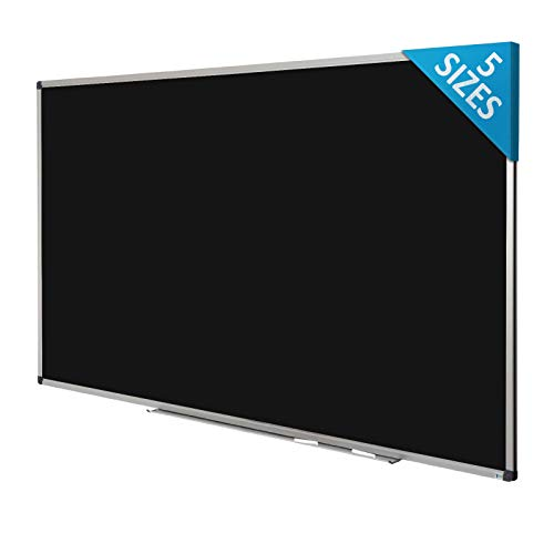 Black Magnetic Chalk Board | Aluminium Framed | Excellent Solution for Art, Notes and Memos | 5 Sizes Available | 18' x 24' (1.5'x 2')