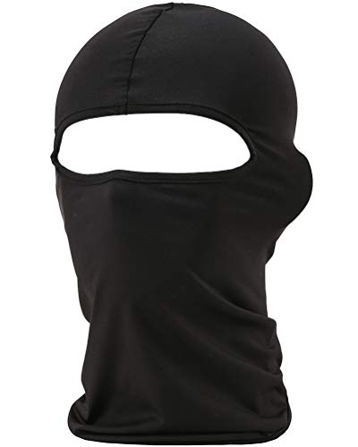 fuinloth Balaclava Face Mask, Summer Cooling Neck Gaiter, UV Protector Motorcycle Tactical Scarf for Men/Women Black
