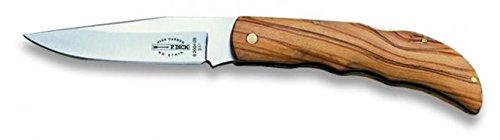 F. DICK Taschenmesser (Klappmesser mit Klinge 9 cm, X50CrMoV15 Stahl, nichtrostend, 54° HRC, Olivenholzgriff) 82004090