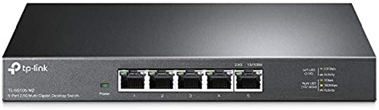 TP-Link Unmanaged 5-Port 2.5G Multi-Gigabit Desktop Switch, 802.3X Flow Control, 802.1p/DSCP QoS, Ideal for Small and Home Office with fanless Design, Metal Casing, Plug and Play (TL-SG105-M2)