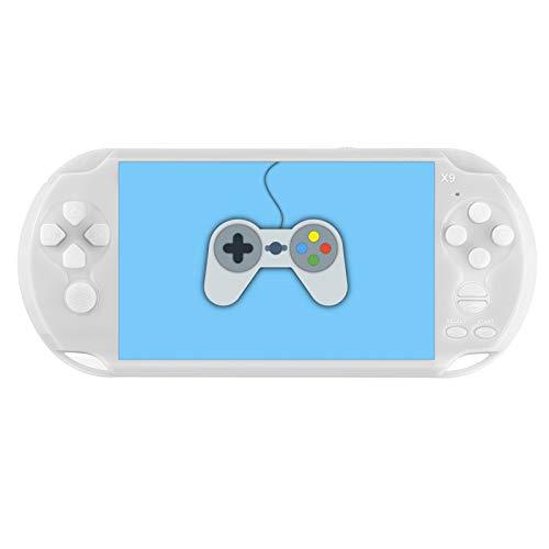 WANGZUN PSP portátil de la computadora de mano, 5.1 pulgadas de pantalla de la consola de juegos Psp consola de juegos 8G integrada 10.000 juegos, soporte 8/16/32/64/128 bits juegos