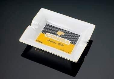 NEDTC Windaschenbecher Drehaschenbecher Cohiba Logo Aschenbecher Office Keramik mit Deckel