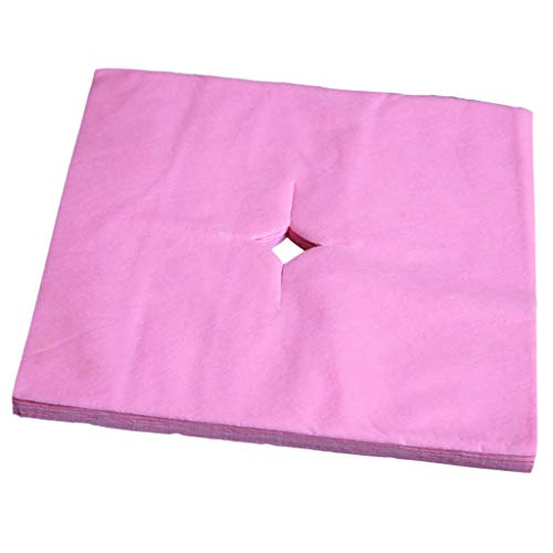 IPOTCH 100x Premium Massageliegen Nasenschlitztücher Hygieneauflagen für Kopfstützen von Massagestühlen & Massagetischen, Atmungsaktive - Rosa