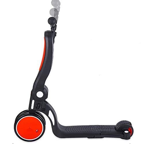 HFJKD 3-in-1-Roller, Tri-Scoot Tricycle/Motorroller/Saldo Bike Schlankes Design, mit faltbarem Sitz, für 3-8 Jahre alt, für Kinder & Kleinkinder Boys & Girls