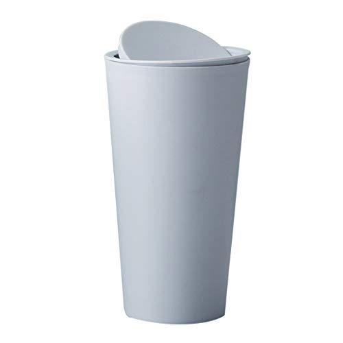 NA swh5 - Cubo de basura pequeño pequeño para escritorio, papelera reciclada, papelera de mesa, cubo de basura para coche, oficina en casa, habitación (BL)