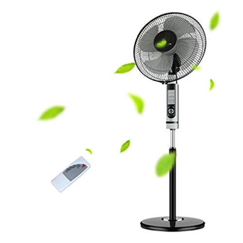 Ventilador de Pedestal 16' Ventilador de Pedestal con Control Remoto Temporizador 120 ° Oscilando STARTE UP Fan 3 Velocidad y Altura Ajustable para la Oficina en casa Negra Ventilador de pie