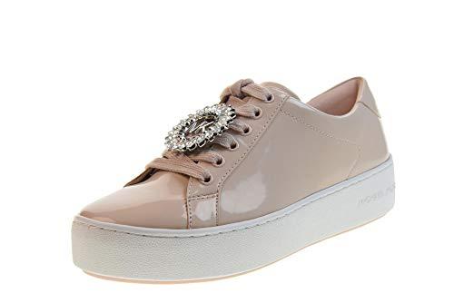 MICHAEL KORS Zapatos de Mujer Zapatillas Bajas 43S9POFS1A Poppy Lace UP Pink Talla 36 Rosa
