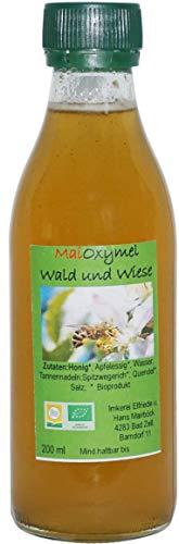 Bio Oxymel Wald und Wiese Honig Apfelessig Spitzwegerich Nahrungsergänzungsmittel