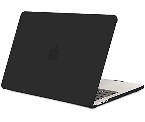 TECOOL Funda para MacBook Pro 13 2016/2017/ 2018/2019, Delgado Cubierta de Plástico Dura Case Carcasa para MacBook Pro 13 Pulgadas con/sin Touch Bar (Modelo: A1706 / A1708 / A1989/ A2159) -Negro
