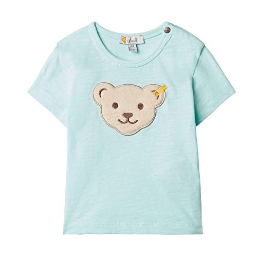 Steiff T-Shirt, T-Shirt Bébé Fille, Vert (Light Blue 5008), 62