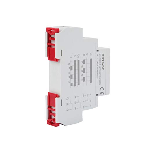 Repite el relé temporizador de encendido/apagado de 35 mm carril DIN SPDT...