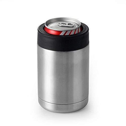 Gtell - Aislante para latas, Doble Pared de Acero Inoxidable Aislado, Soporte para Botella de Cerveza 12oz 16oz 20oz(12oz)