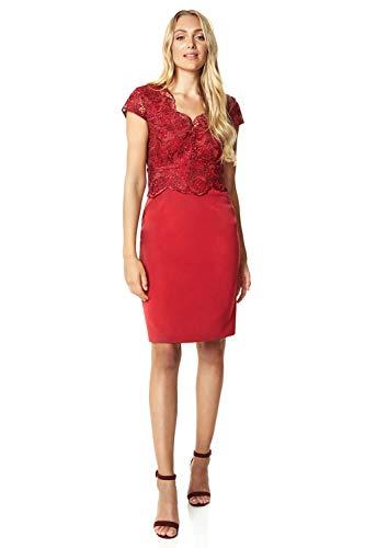 Roman Originals Vestido de encaje premium para mujer, para ocasiones especiales, boda,...