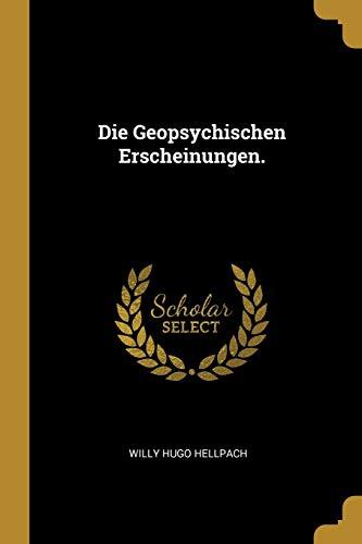 GER-GEOPSYCHISCHEN ERSCHEINUNG