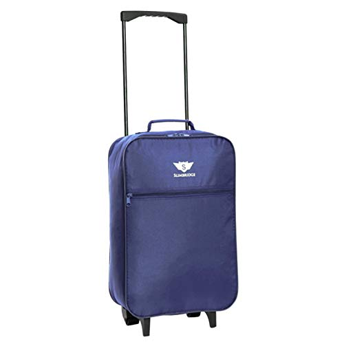 Slimbridge Cabin Carry-on Hand Luggage Suitcase Bag Ultra Lightweight 55 cm 0.95 kg 27 litres 2 Wheels, Barcelona Dark Blue