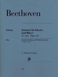 QUINTETT ES-DUR OP 16 - arrangiert für Oboe - Klarinette - Waldhorn - Fagott - Klavier [Noten / Sheetmusic] Komponist: BEETHOVEN LUDWIG VAN