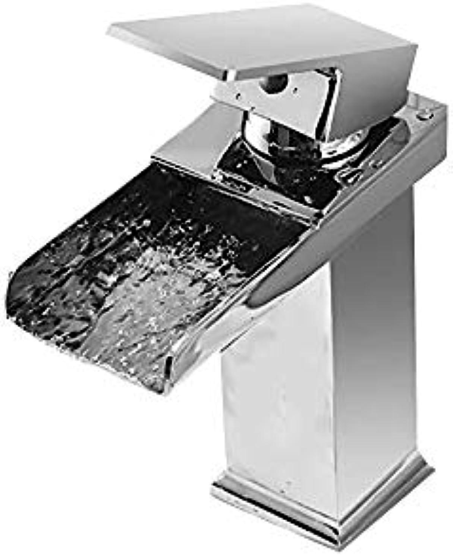 LM-Faucet Mischbatterie Wasserhahn,europischer Stil alle Bronze Warmes und kaltes Mischen Waschbecken Waschbecken Badezimmer Wasserfall Wasserhahn,Silber(A)