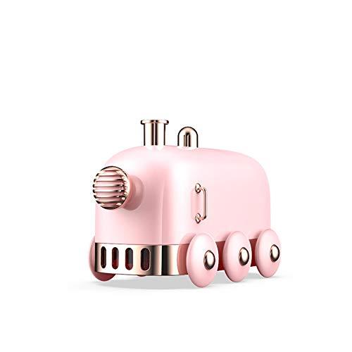 Humidificadores Difusor Aceites Esenciales Humidificador De Aire De 300 Ml Mini Tren USB Difusor De Aceite Esencial Aroma Mist Maker Fogger Atomizador Portátil para El Hogar Plata