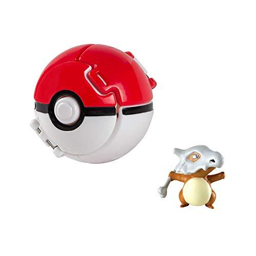 Pokemon Lets Go Pikachu avec Jeu de Balle Action Figure Figure Toy Set pour Enfants (Cubone)