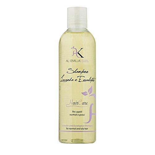 Alkemilla Shampoo Bio Lavanda Eucalipto, Trasparente, 250 Millilitri