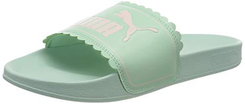 PUMA Leadcat FTR Petals Jr, Mädchen Dusch- & Badeschuhe, Grün (Mist Green-Pink Rosewater 01), 38 EU