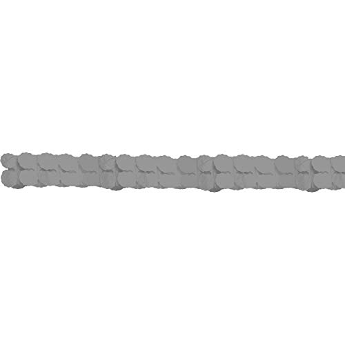 Amscan International 20055–18–55 3,65 m zilver papieren slinger