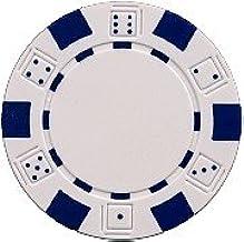 DA VINCI 50 Clay Composite Dice Striped 11.5 Gram Poker Chips, Choose from 11 Colors
