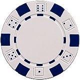 DA VINCI 50 Clay Composite Dice Striped 11.5 Gram Poker Chips, White