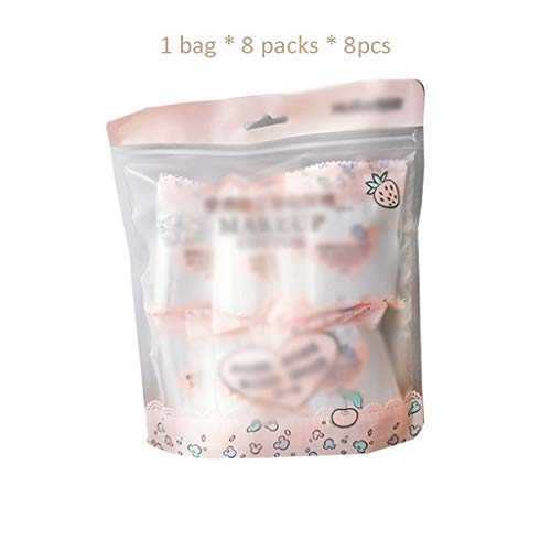 Coton Nettoyant Portable Paquet de voyage portatif en coton mini-sac jetable double face en coton nettoyant hydratant emballé individuellement Doux Confortable (Color : Pink, Taille : 5 * 6cm)
