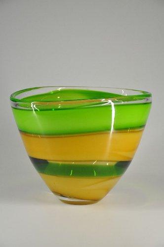 Glasfeld, Glas, Designer, Schale, Waterford Peridot Whisper Bowl, Qualität