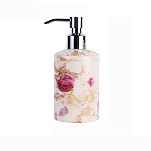 Dispensador de jabón para ducha Cerámica creativa desinfectante for manos botella de porcelana de hueso ducha sub-embalaje de la botella de gel de hotel loción salón de belleza sub-embalaje Hotel, ase