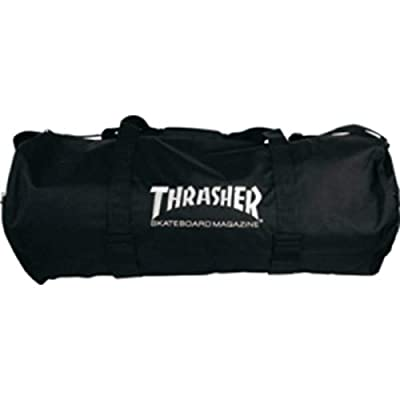 Thrasher Magazine Logo Black Duffel Bag with Velco Board Straps