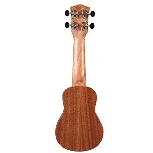 LOIKHGV 17 Zoll 12 Bünde 4 Saiten Ukulele Gitarre Mahagoni Gitarre UkeHawaiianische Gitarre Musikinstrumente für Anfänger, 17 Zoll
