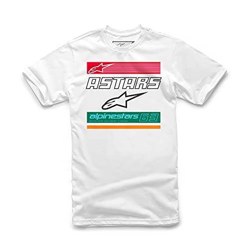 Alpinestars, Quattro Tee, Kurzarm-Shirt, Weiss, L, Mann