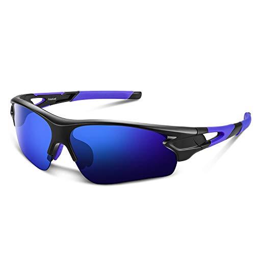 Occhiali da sole sportivi polarizzati Tac per uomo Donna Baseball giovanile Motocicletta militare (Blu brillante)