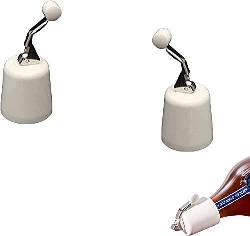 jzxjzx Sellador al vacío de tapón de Botella de Ahorro de Vino Reutilizable de Alta Gama de 1/2 Piezas con Bomba de presión incorporada Que Mantiene el Vino Fresco (el Color es Blanco)