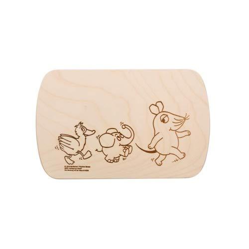 Brink Holzspielzeug Frühstücksbrettchen Frühstücksbrett mit kostenloser Gravur Sendung mit Maus Vesper Holz Namen