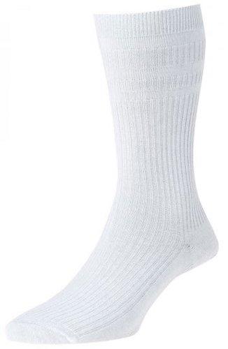 HJ Hall Damen Socken, Einfarbig Weiß Schwarz Large