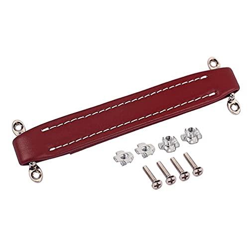 LIXBD Amplificador de guitarra de estilo vintage con mango de piel para amplificador de altavoz de guitarra (negro) (color: rojo oscuro)