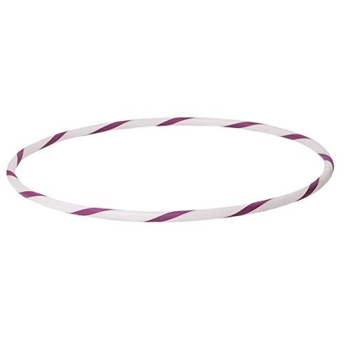hoopomania De Colores para niños de Hula Hoop para pequeños Profesionales, Ø60cm, Blanco-Púrpura