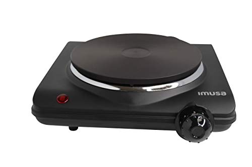 Imusa USA GAU-80315 Single Electric Hot Plate, black