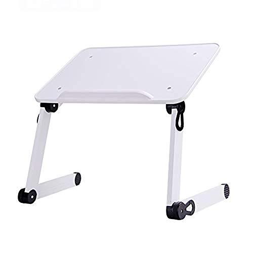 Klaptafel HJCA - Klaptafel en draagbare tafel voor laptop ontbijt van metaal of notebookstandaard (zwart/wit) campingtafel en