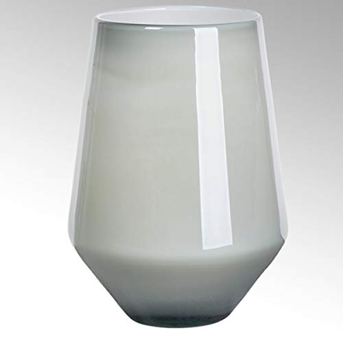 Lambert - Vase Como - Farbe:blaugrau/metallic - H 32,5 cm D 22 cm