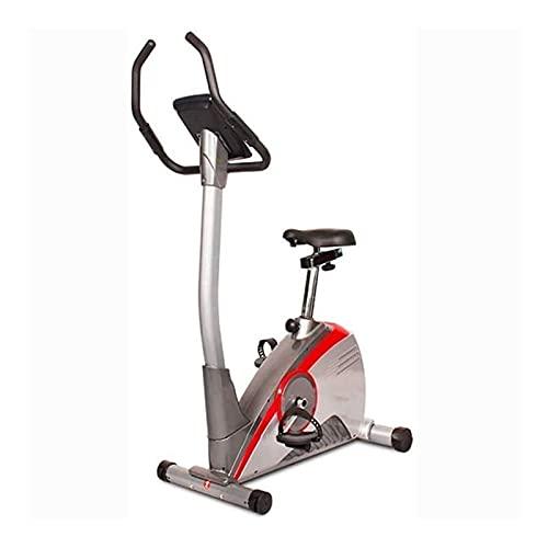 DJDLLZY Bicicleta estacionaria máquina de ejercicio cardiovascular vertical de la bicicleta de control eléctrico de la máquina de múltiples ranuras de ejercicios en casa transmisión por correa de inte