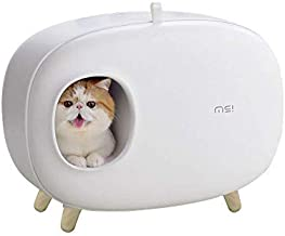 MS Cat Litter Box for Easier Handling of Cat Litter, Enclosed Design, Easy to Clean, Prevent Sand Leakage, Easy Assembly and Large Space, with Cat Litter Scoop
